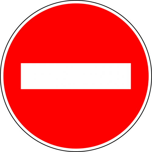 no entry traffic sign sign
