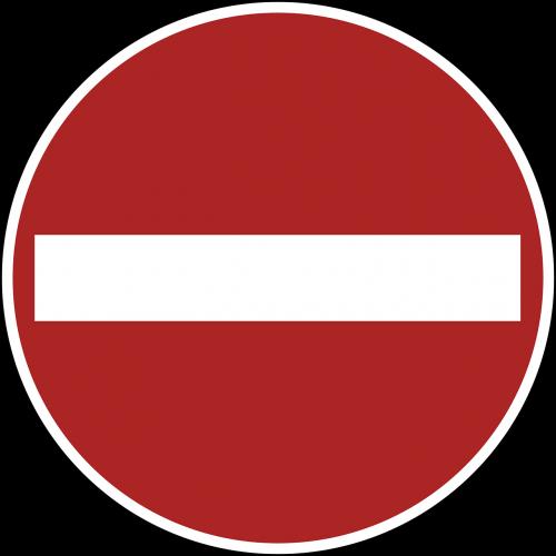 no entry sign warning
