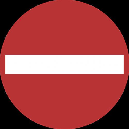 no entry sign signage