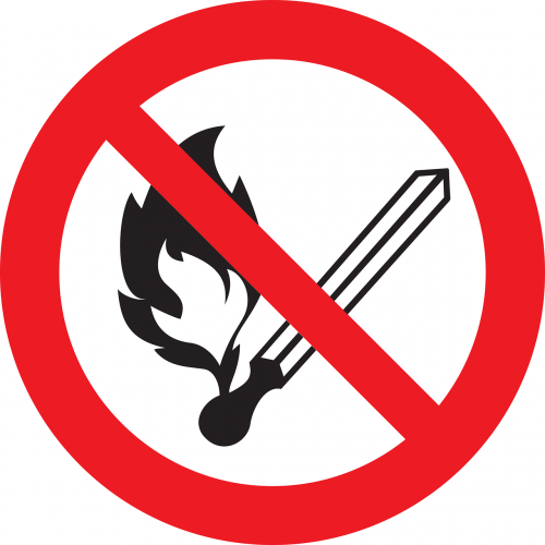 no fire sign prohibited