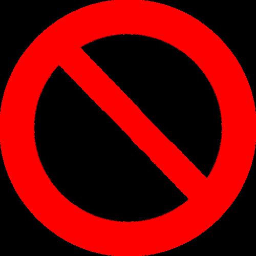 no honking stop icon