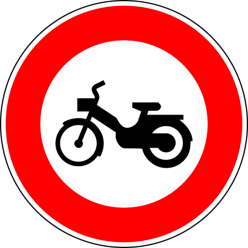 no mopeds traffic sign sign