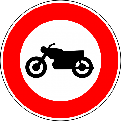no motorcycles traffic sign sign
