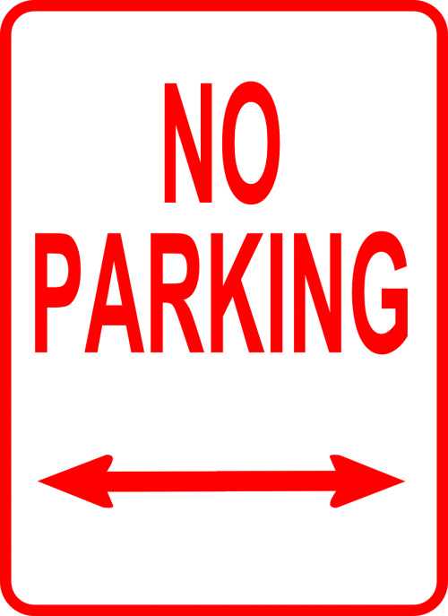 no parking parking prohibited forbidden