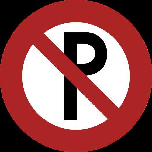 no parking sign signage