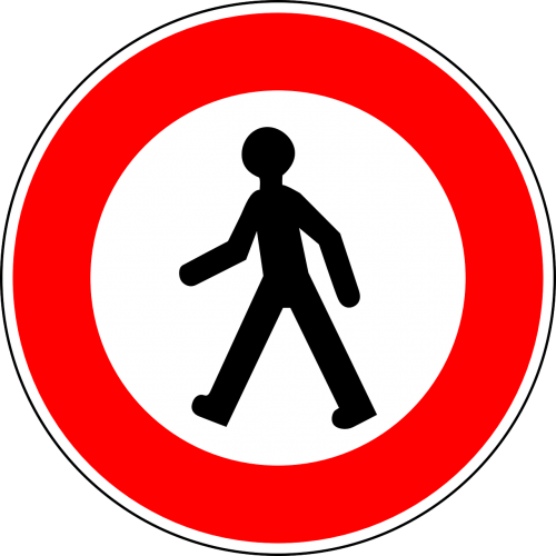 no pedestrians traffic sign sign