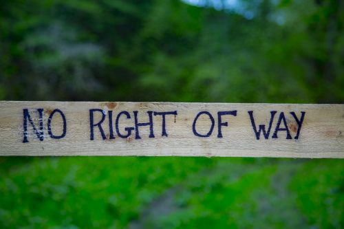 No Right Of Way