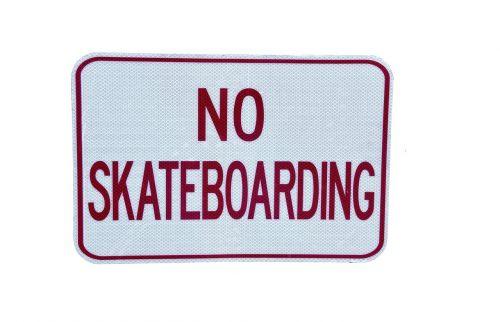 no skateboarding sign signage
