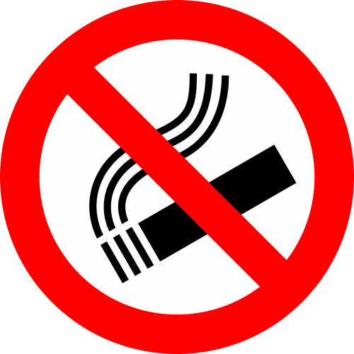 no smoking sign prohibited
