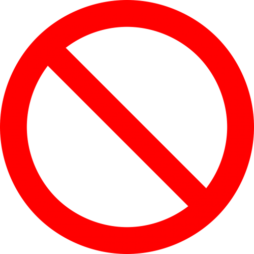 no symbol prohibition sign