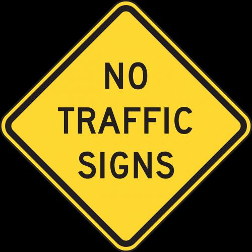 no traffic signs ahead no roadsign