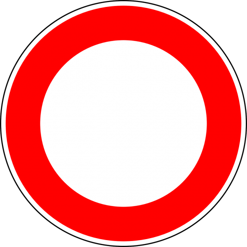no vehicles traffic sign sign