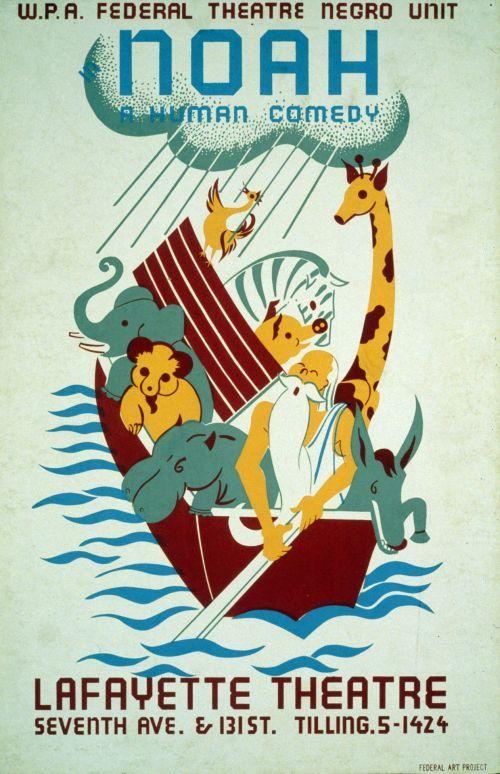Noahs Ark Vintage Poster