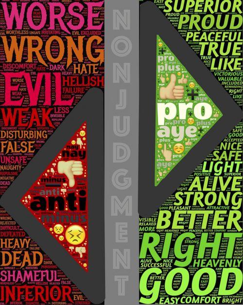 non-judgment polarities opposites