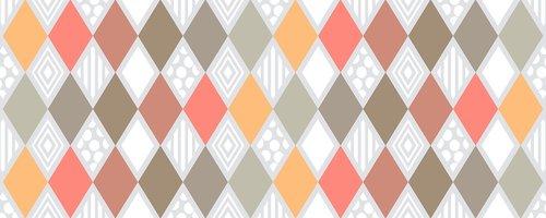 non-seamless  pattern  diamond shape