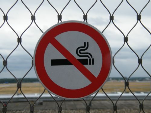 non smoking prohibited shield