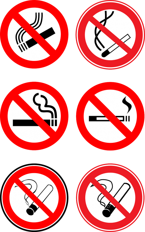 nonsmoker prohibitive signs prohibition signs