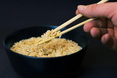 noodles soup chopsticks