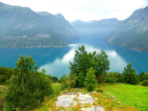 noorwegen bergen fjord