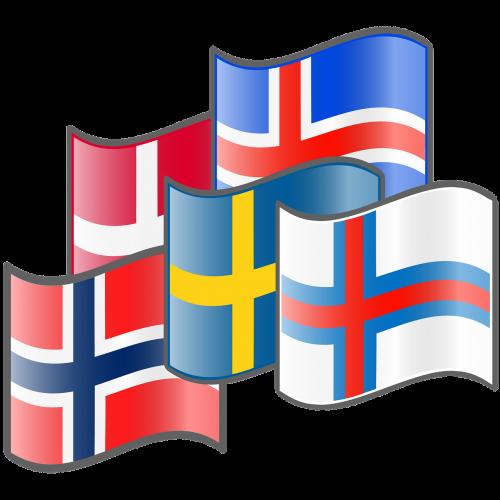 nordic flags denmark iceland