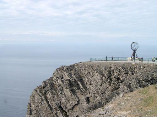 nordkap rock norway norwegian sea