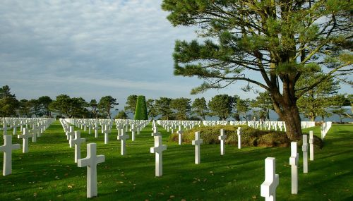 normandy american cemetery graves