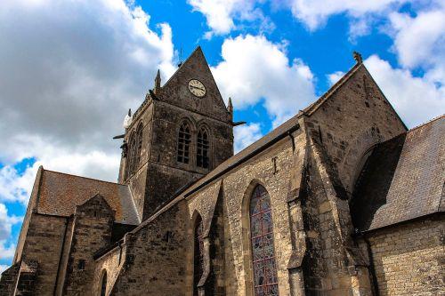 normandy church d-day