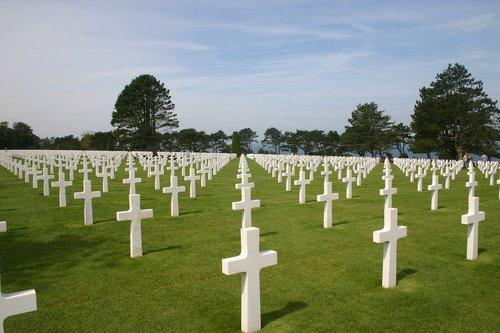 normandy  commemorate  cemetery
