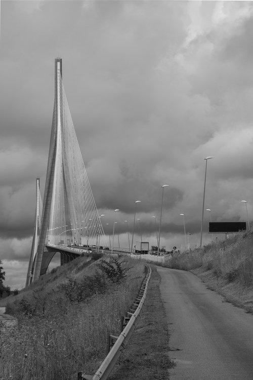 normandy bridge  bridge  normandy