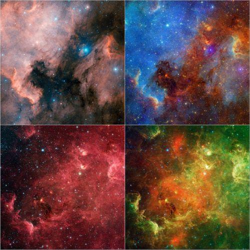 north america nebula ngc 7000 spectra
