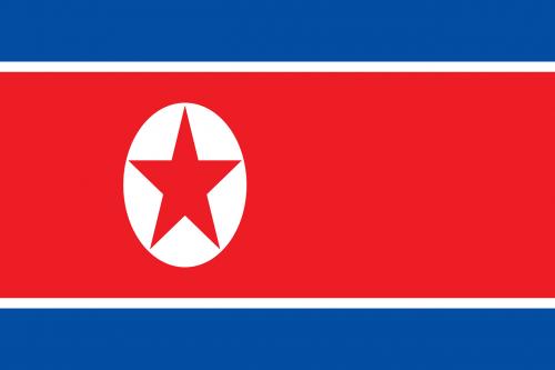 north korea flag national flag