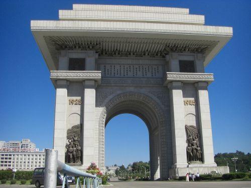north korea the arc de triomphe pyongyang