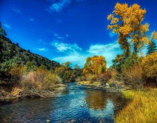 north platte river  wyoming  autumn