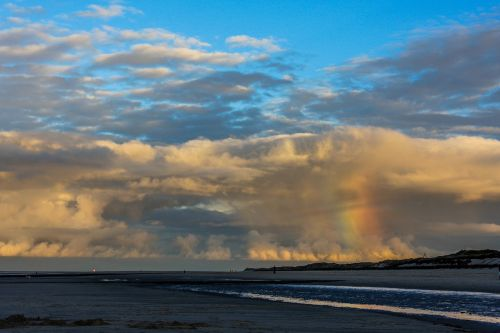north sea natural spectacle rainbow