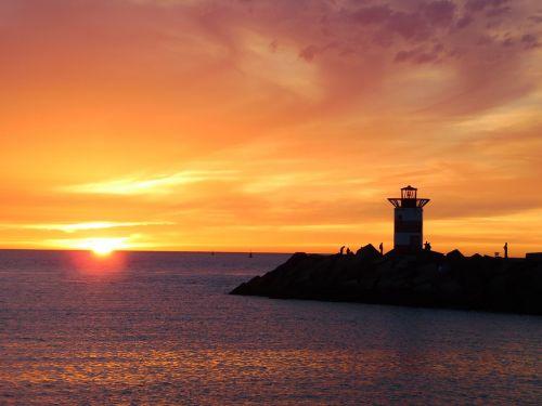 north sea scheveningen sunset
