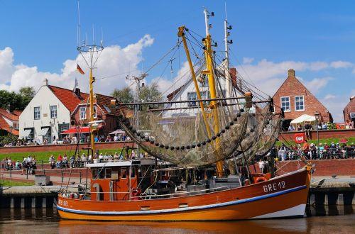 north sea fishing boat wood