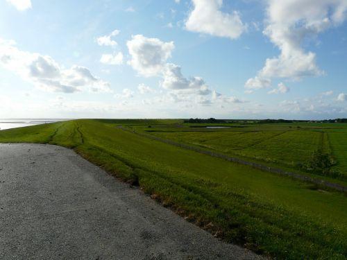 north sea dike dike road