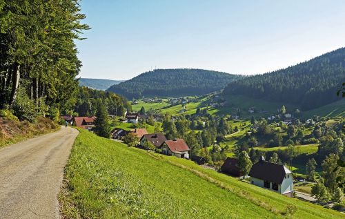 northern black forest baiersbronn clay valley
