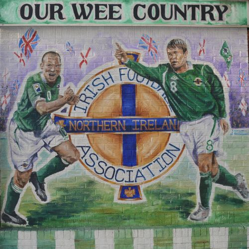 northern ireland football mural