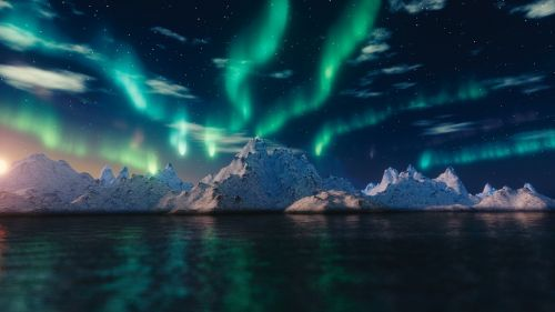 northern lights aurora borealis blender