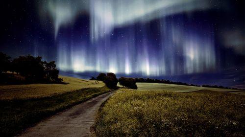 northern lights landscape aurora