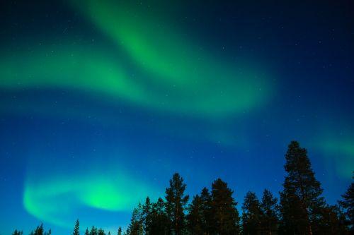 northern lights aurora borealis lapland