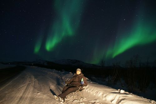 northern lights aurora borealis green