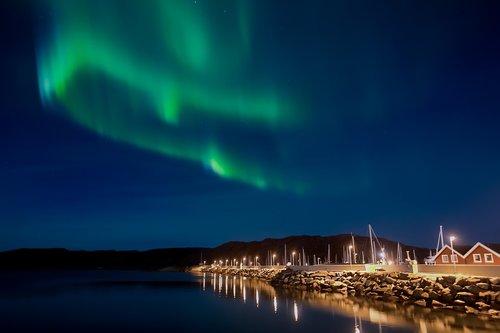 northern lights  aurora borealis  night