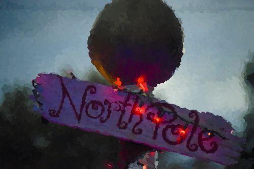 northpole sign christmas