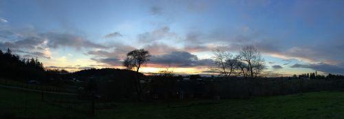 northwest sunset nature