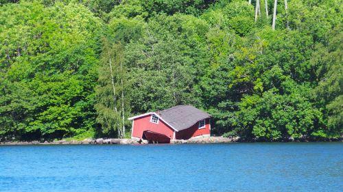 norway boathouse fjord