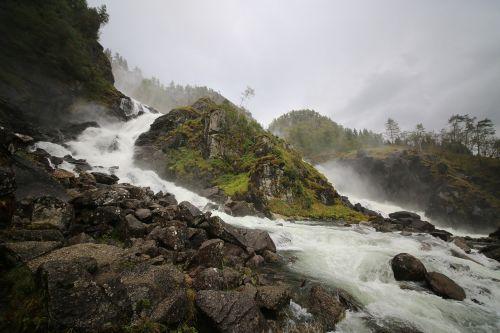 norway waterfall scandinavia