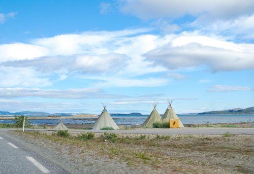 norway road e69 blue sky