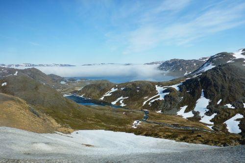 norway snow mountains